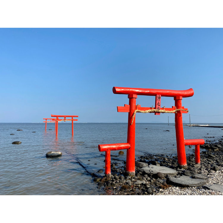 大魚神社の海中鳥居