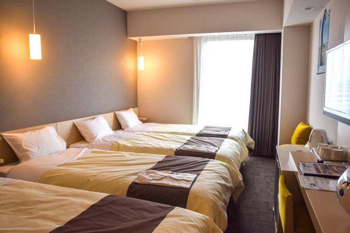 寝心地抜群のマットレスでくつろげる、快適な客室