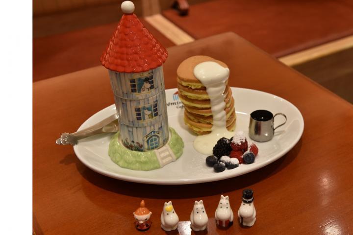 ソラマチのムーミンハウスカフェで限定パンケーキをいただきます♪