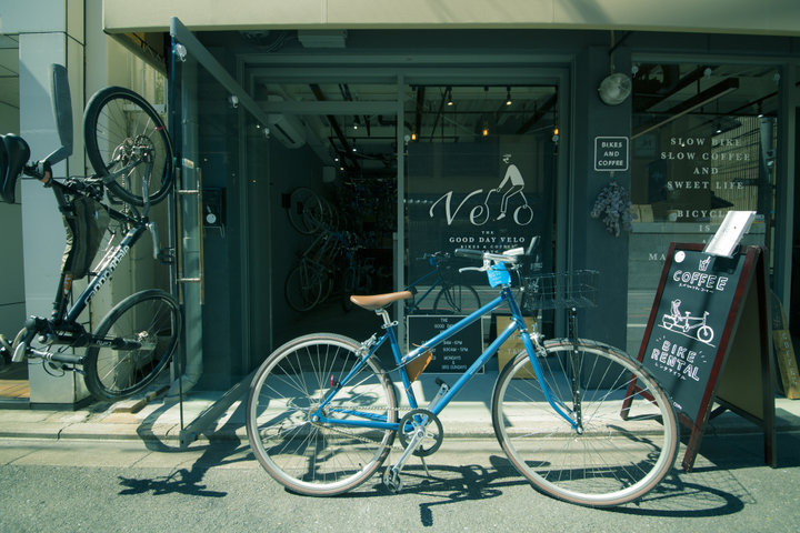 「THE GOOD DAY VELO BIKES & COFFEE KYOTO」でレンタサイクル